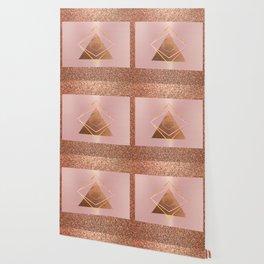 Bronze glitter glam Wallpaper
