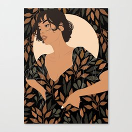 Fall Lover (Black) Canvas Print