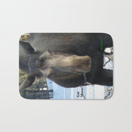 Moose Munching Poplar Lunch Bath Mat