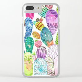 Cactus King Clear iPhone Case