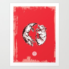 Chasing Wolves Art Print
