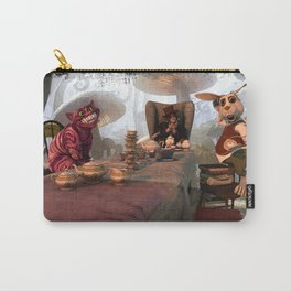 Why is a Raven like a writing desk.  Carry-All Pouch
