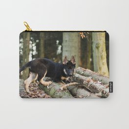 Cold snout playing in the forest Carry-All Pouch