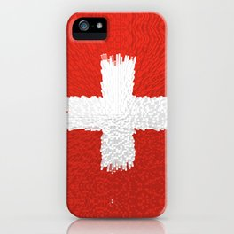 Extruded flag of Switzerland iPhone Case