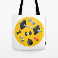 sport Tote Bags featuring Sport equipment by Irmirx