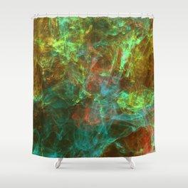 Golden Smoke  Shower Curtain