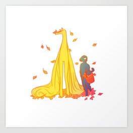 Leaves in November Art Print