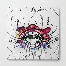 """Pop Art Eyelashes"" Metal Print"