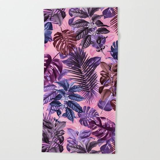 TROPICAL GARDEN VI Beach Towel