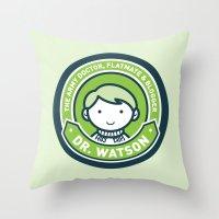 john green Throw Pillows featuring Cute John Watson - Green by mydeardear