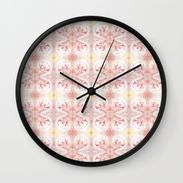 Shabby Chic Peach with White and Yellow #HomeDecor Wall Clock