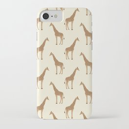 Giraffe animal minimal modern pattern basic home dorm decor nursery safari patterns iPhone Case