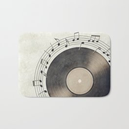 Vinyl Music Collection Bath Mat