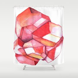 January Birthstone - Garnet Shower Curtain