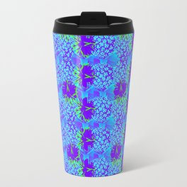 Pineapple turquoise and green parade Travel Mug