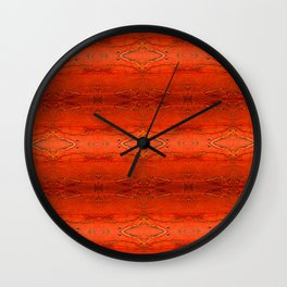 Rustic Orange Geometric Southwestern Pattern - Luxury - Comforter - Bedding - Throw Pillows - Rugs Wall Clock