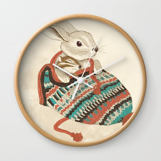 cozy chipmunk Wall Clock