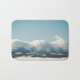 Bridger Mountain Cloud Cover Bath Mat