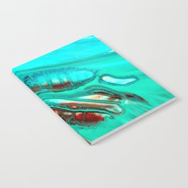 Turquoise abstract Notebook