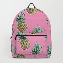 Pineapple - Pattern - Fun! Pink Backpack