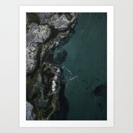 Green Water Art Print