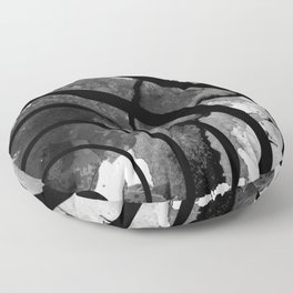 The Sound Of Black And White Floor Pillow
