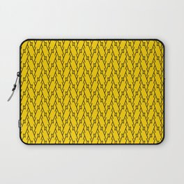 YORK timeless black and canary yellow in modern pattern Laptop Sleeve