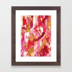 Hot Pink Mess Abstract Framed Art Print