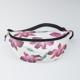 Hand drawn pattern Beautiful watercolor pink Orchid Fanny Pack