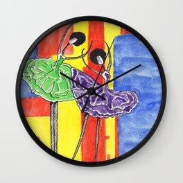 Twin Ballet Dancers Wall Clock