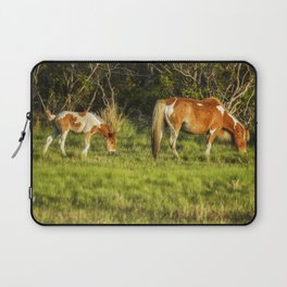 Following Mom - Chincoteague Pinto Foal No. 3 Laptop Sleeve