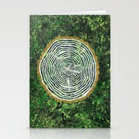 tree rings Stationery Cards featuring Tree Rings by Zoë Miller