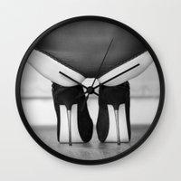 heels Wall Clocks featuring Spike Heels by davehare