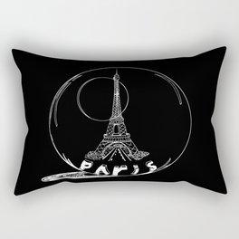 Paris city in a glass ball . Home decor, art prints Rectangular Pillow