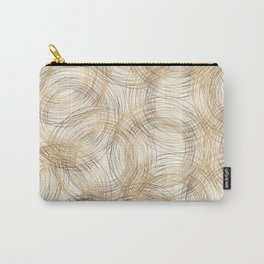 Metallic Line Art Pattern Carry-All Pouch