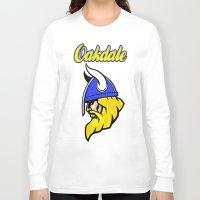 vikings Long Sleeve T-shirts featuring Oakdale Vikings by Kuma
