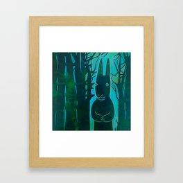 Rabbit in the Woods Framed Art Print