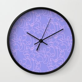 Curlicue two Wall Clock