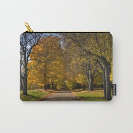 Rural country gravel road in Autumn Carry-All Pouch
