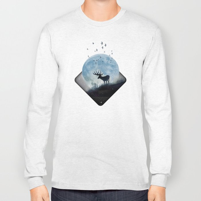 blue moon spill Long Sleeve T-shirt