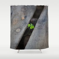 clover Shower Curtains featuring Clover by Dimind