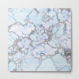 Mod Marble Metal Print