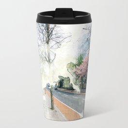 Pink Corner Travel Mug