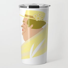 Kentucky Derby Old Rich Lady With Hat Travel Mug