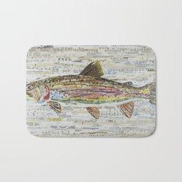 Rainbow Trout Collage by C.E. White Bath Mat