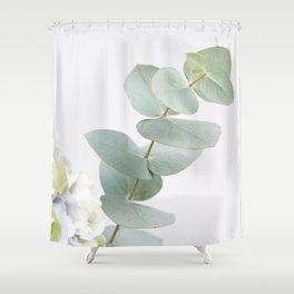 Gentle Soft Green Leaves #1 #decor #art #society6 Shower Curtain