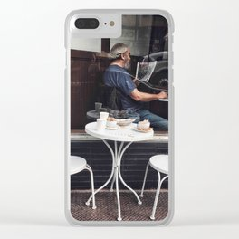 Classic Morning Clear iPhone Case