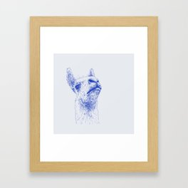 A lama that likes some drama Framed Art Print