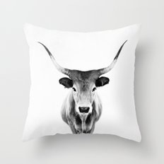 Honey - black and white Throw Pillow