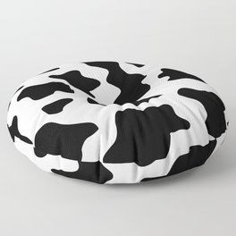 black and white ranch farm animal cowhide western country cow print Floor Pillow